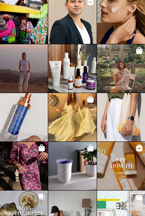 grille esthétique Instagram