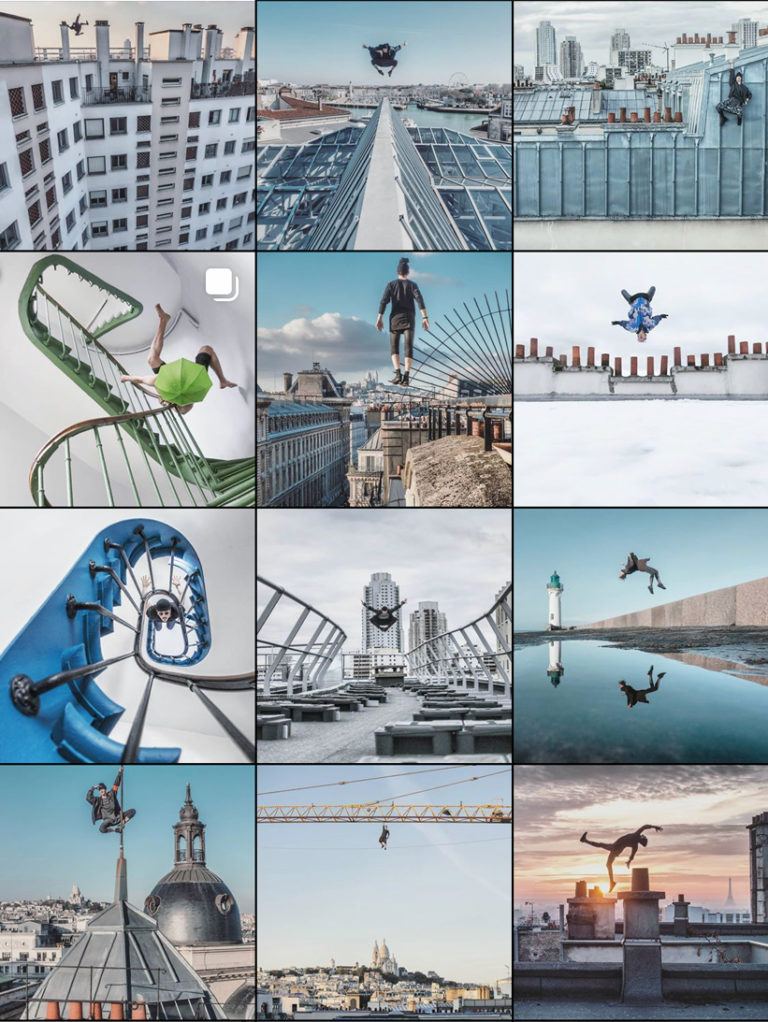 Compte Instagram bien organisé