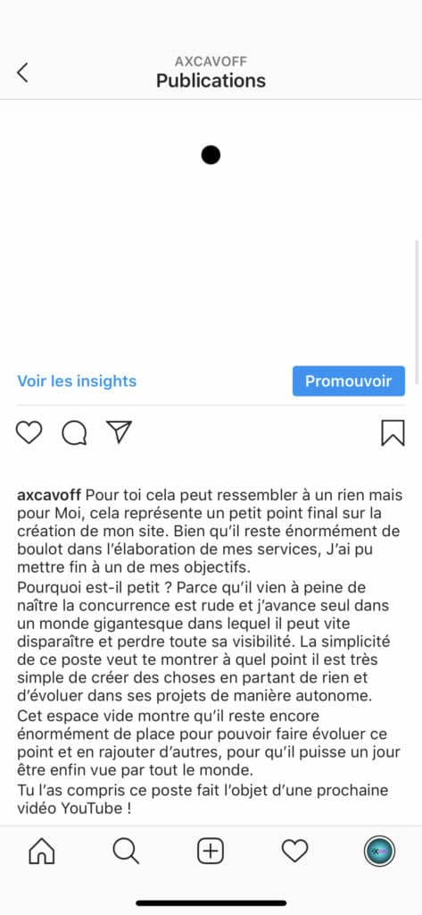 post instagram avec description