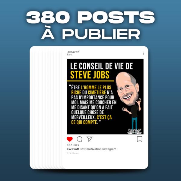 380 POSTS INSTAGRAM À PUBLIER